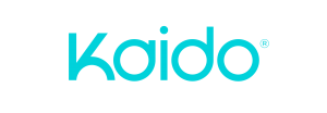 Kaido blue logo on white background